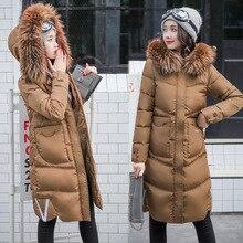 Eshtanga Женское пальто длинное tyle пуховое пальто теплое женское водонепроницаемое пальто с натуральным мехом Зимняя Толстая куртка