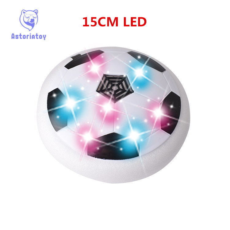 15cm 1Piece Air Power Soccer Ball Disc Indoor Football LED Toy Multi-surface Hovering and Gliding Toy