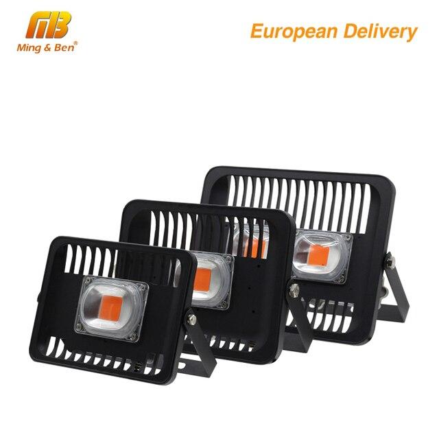 [MingBen] светодиодный светильник для выращивания растений на открытом воздухе, 30 Вт 50 Вт 100 Вт 220 В, водонепроницаемый, высокая мощность, для завода, с разъемом европейского стандарта, форма доставки RU SP
