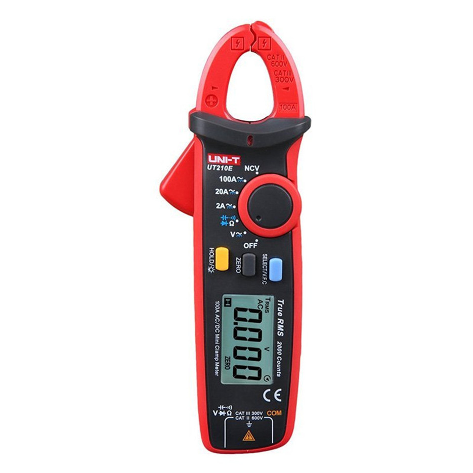 UNI-T UT210E True RMS Mini Digital Clamp Meters AC/DC Current Voltage Auto Range VFC Capacitance Non Contact Multimeter Diode uni t ut210e digital multimeter true rms ac dc current mini clamp meters dmm capacitance tester digital earth ground multimeter