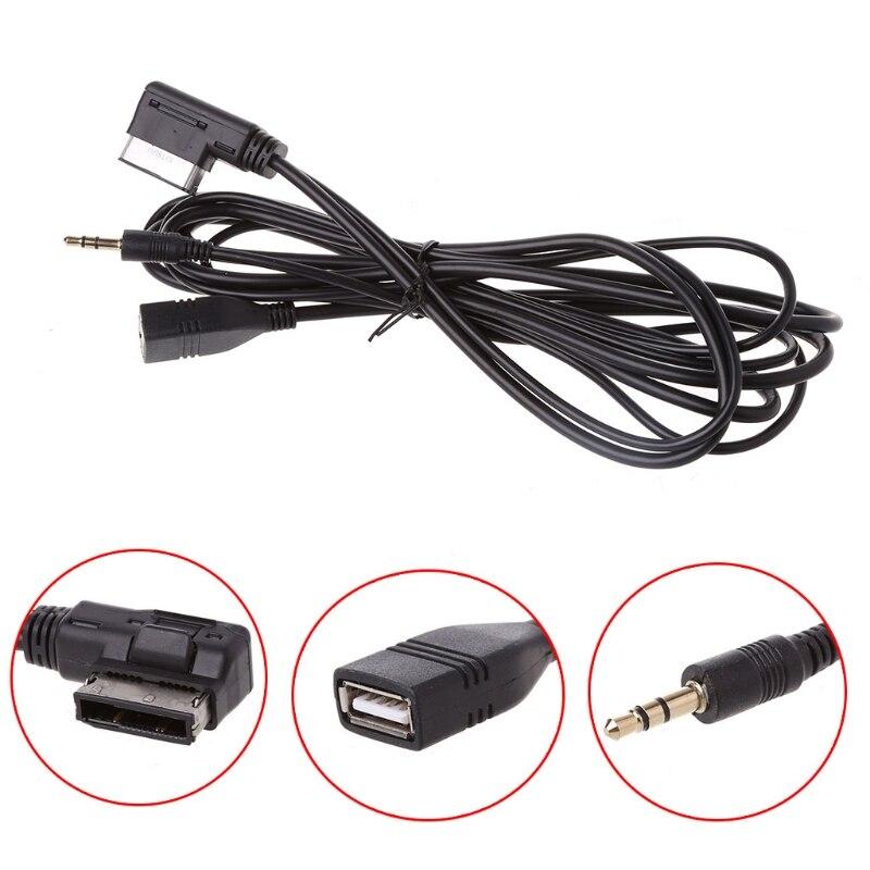 Câble d'usb AUX de chargeur d'interface de musique d'ami de voiture pour Mercedes Benz C63 E200l CLS ML