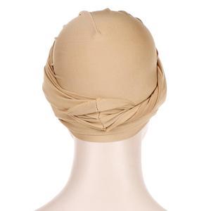 Image 5 - Muslim Women India Hat Muslim Hijab Ruffle Chemo Beanie Turban Islamic Wrap Cap Amira Plain Headscarf Hair Loss Hat Knot Bonnet
