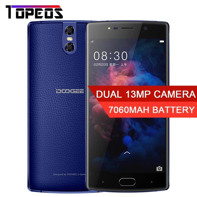 DOOGEE BL7000 Smartphone 7060mAh Dual Camera 13MP 5.5'' MTK6750T Octa Core 1.5GHz 4GB+64GB Android 7.0 fingerprint smartphone