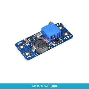 цена на 5pcs/lot MT3608 DC-DC Adjustable Boost Module 2A Boost Plate 2A Step Up Module with USB 2V - 24V to 5V 9V 12V 28V LM2577