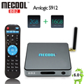 S912 MECOOL BB2 TV Box Amlogic Octa Núcleo 2 GB/16 GB Android 6.0 Caixa De TV 2.4 GHz/5 GHz WiFi H.265 BT4.0 4 K x 2 K 1000 M LAN Media Player