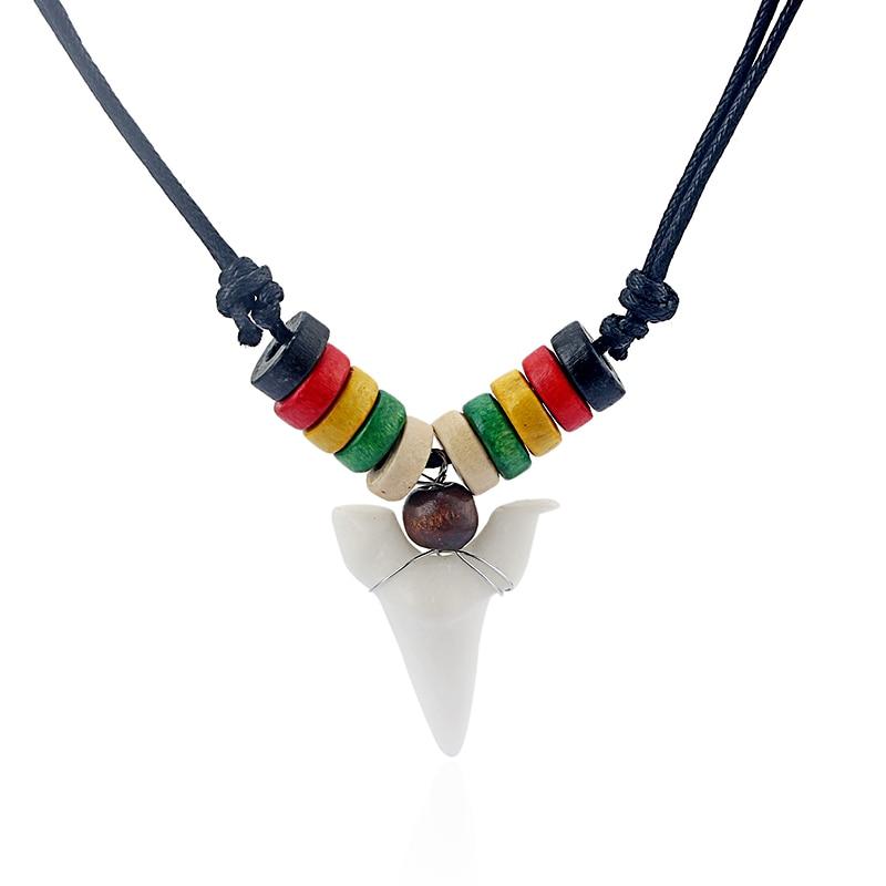 Collier pendentif surf requin dents surf requin mode choisir couleur - Bijoux fantaisie - Photo 5
