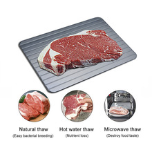 Fast Defrosting Tray Plate Defrost Food Meat Frozen Tray Thawing Frozen Meat Defrost Kitchen Tool D