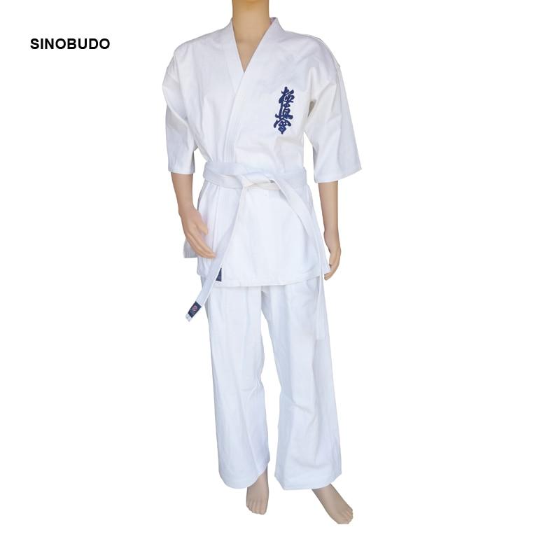 Hot Kyokushinkai Karate gi Kyokushin dogi Uniform Training Cloth Adult Child White Breathable Cotton