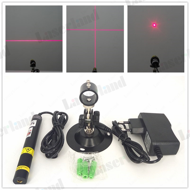 16*120mm 650nm Red 50mW 100mW 200mW Dot Line Cross Focusable 648nm Laser Diode Module Locator adapter mount