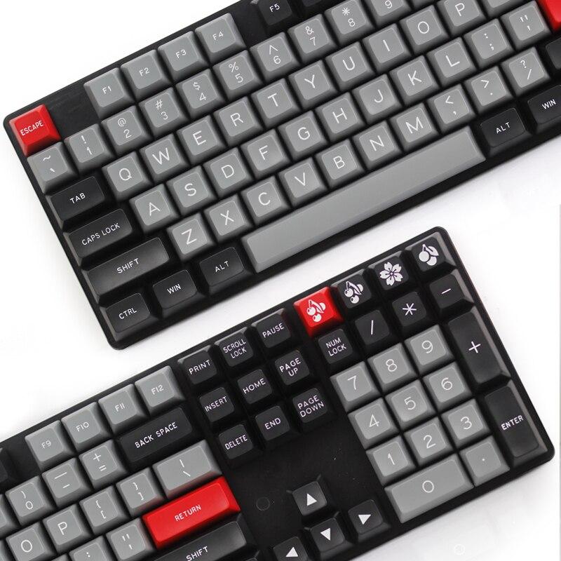 Sa ABS klavye tuş MAXKEY Portland Doubleshot ABS 129 tuşları sa profil kiraz mx mekanik klavye 129 tuşları dolch renkli kırmızı esc