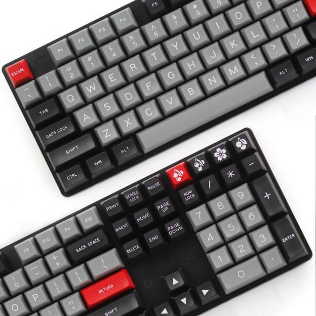 sa ABS keycap MAXKEY Portland Doubleshot ABS 129KEYS sa profile for cherry mx mechanical keyboard 129 keys dolch color red esc