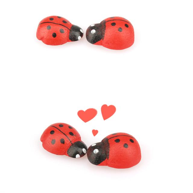 Ladybug Ornament Glue Sticker (10 pcs)