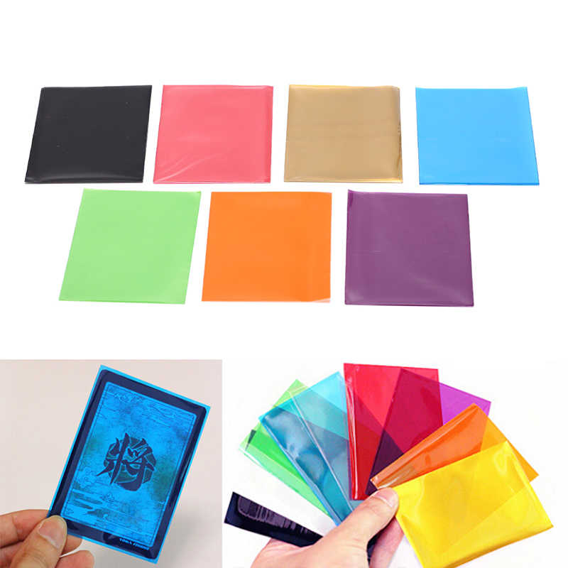 50 unids/lote de fundas para cartas Color mate, Protector de tarjetas para tarjetas comerciales, Escudo de tarjeta mágica, funda Pkmn/YU-GI-OH de 6,5 Cm X 9Cm