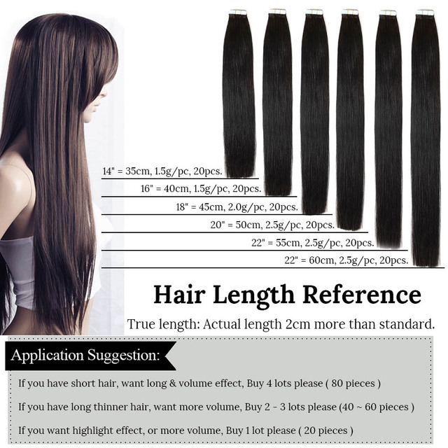 Non Remy Straight Brazilian Hair On Invisible Tape In PU Skin Weft
