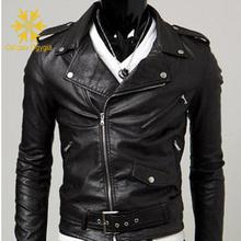 Autumn jacket men leather collar mens motorcycle Biker winter & Suede