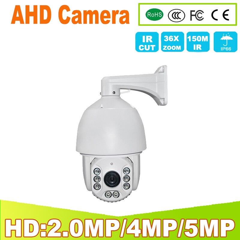 YUNSYE AHD 2.0MP 1080 p 5MP HD Videocamera di Sicurezza con IR-CUT 8 notturna di IR LED di 150 m di Visione Notturna AHD PTZ macchina fotografica per la casa uso interno/esterno