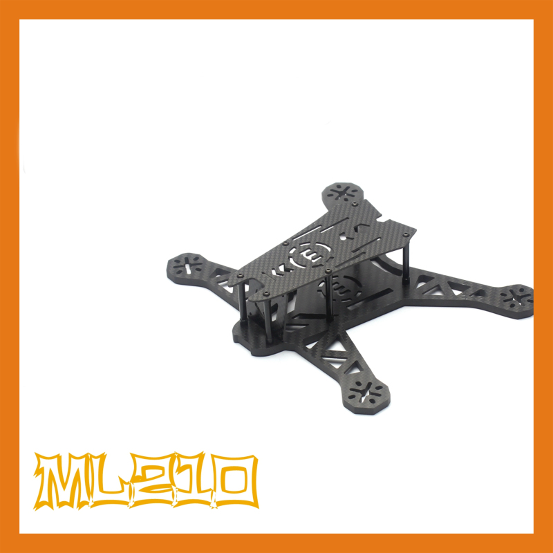 the newest DIY mini drone ML-210 cross racing quadcopter pure carbon fiber frame unassembled eft diy 10l agriculture spray quadcopter drone 1300mm annular folding pure carbon fiber frame model a and model b