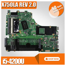 For ASUS X750LA x750l x750ln x750lb font b Laptop b font motherboard I5 4200U HD Graphics