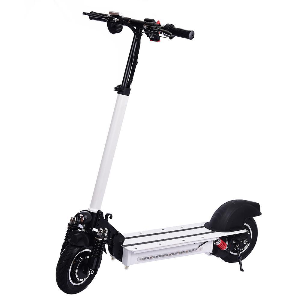 Scooter électrique pliable de Suspension hydraulique du Scooter 2019 à Double entraînement avec l'induction de moteur de Turbine avec des lumières de LED