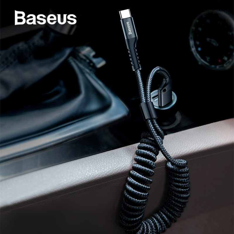 Baseus USB Type C Cable for xiaomi mi 9 mi 8 a2 for Car Styling Storage Mobile Phone 2A Charging Type C Cable for Samsung S9 S8-in Mobile Phone Cables from Cellphones & Telecommunications on AliExpress