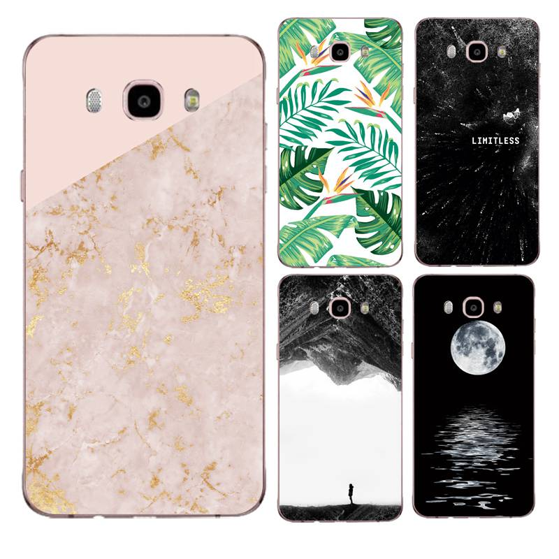 Dancer Soft Clear TPU Phone Case For Samsung J3 J5 J7 S6 S7 S8 note8 A3 A5 C7 J2prime Marble Moon Printed Cover Free Shipping image