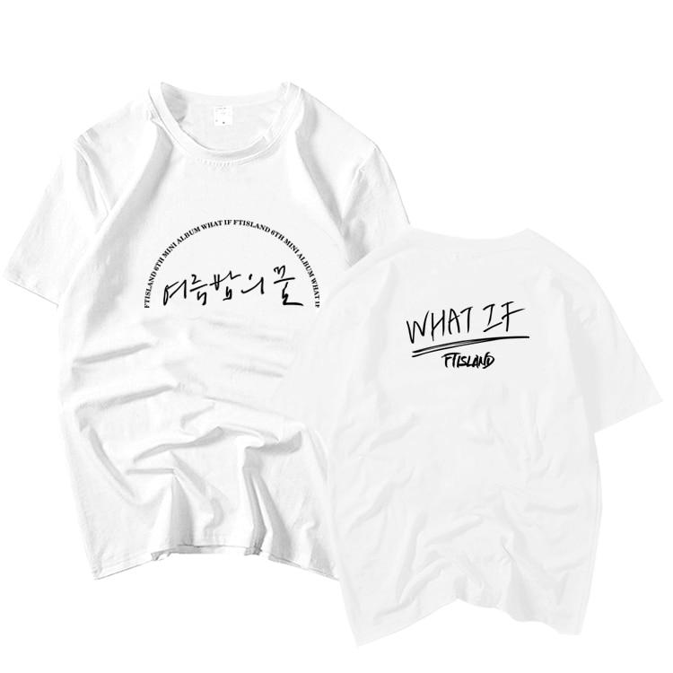 2380fd97f Kpop ftisland album what if cover same printing o neck short sleeve t shirt  summer style k-pop unisex loose t-shirt 6 colors