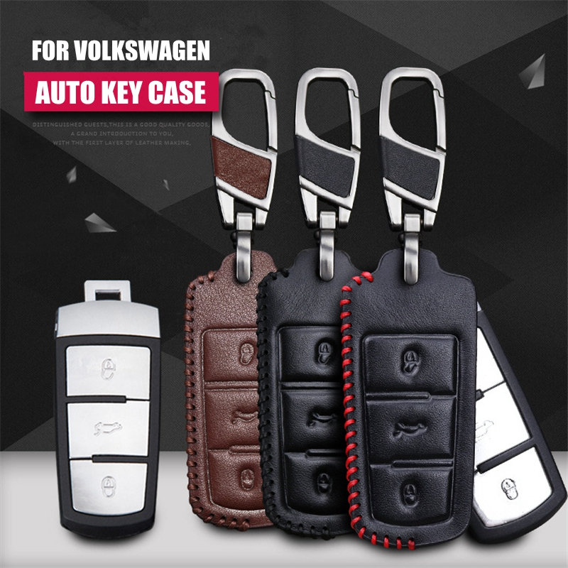 Echtes leder auto styling schlüssel abdeckung case für volkswagen - Auto-Innenausstattung und Zubehör