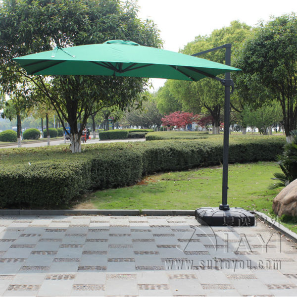 3*3 meter aluminum garden sun umbrella parasol patio cover outdoor furniture sunshade with plastic water tank selling door magnetic stopper suction stainless steel alloy wall top 4 color