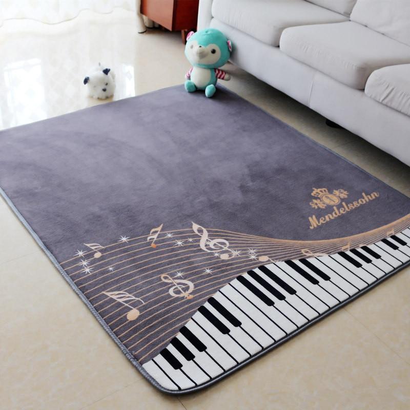 Honlaker Piano Carpet for Musical Instrument Room Living Room Rugs Antiskid Floor Rug for Kids Bedroom