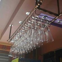 80*30 см модный бар Красное Вино Кубок стеклянная вешалка держатель подвесной стеллаж полка стойка для вина на стену подстаканник