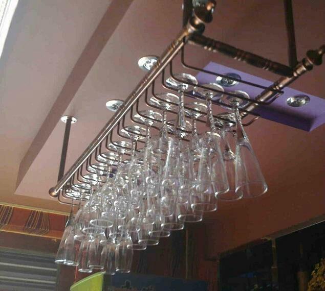 Top 80*30 cm fashion bar vino rosso calice di vetro gancio appeso  JQ74