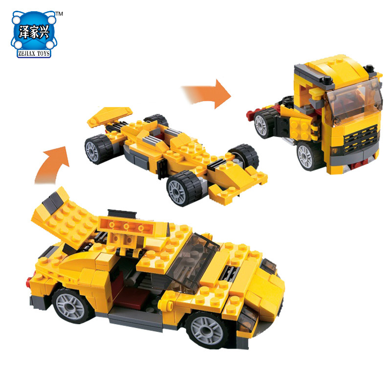 Cool Cars DIY model Race Truck Block Brick 3 In 1 Toy Boy Game Toys for children Model Car Gift Lepins