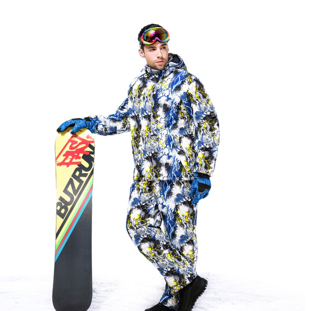 2017 Brand New Men Ski Jacket+Pants Breathable Waterproof Windproof Winter Suit for Snowboarding Climbing Hiking Outdoors winter men snowboarding jackets waterproof windproof ink camouflage ski suit camping travel climbing skating hiking ski jacket