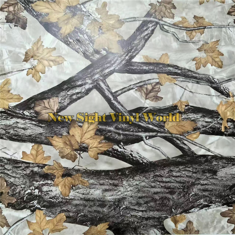 YELLOW LEAF REALTREE CAMO VINYL WRAPPING DECAL Nature Hunting For Truck Jeep Size:1.50*30m/Roll