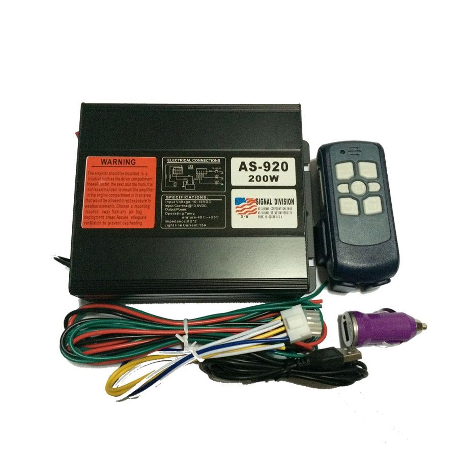 AS920 200W Car Alarm Siren 9 Tone Loudspeaker Horn font b Electronic b font Horn Siren