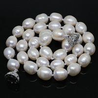 Beautiful White Natural Freshwater Barrel Rice Pearl Beads Necklalce 7 8mm 11 13mm High Grade Women