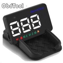 OBDTOOL A5 HUD 3.5 inch Car Head Up Display Windshield Projector Speedometer Overspeed – GPS Satellite 2 Dispaly Mode 2018 New