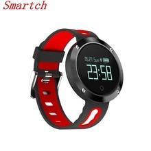 Smartch Новый Smart запястье сердечного ритма артериального давления кислорода оксиметр спортивные часы Браслет Сенсорный экран руки поднять свет