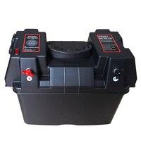 Multifuncional USB Carregador de Caixa De Bateria com Voltímetro Gauge para RV Barco Do Caminhão Do Carro Marinha|  -
