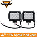 "Auxbeam 4 ""Fichas CREE 18 W LED Spot Light Work/Flood SUV 4WD Truck 4X4 ATV UTE Barco Carro Vagão Reboque OffRoad Driving Fog luz"