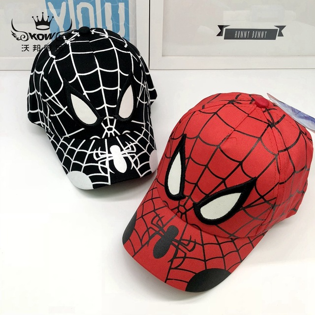 14b0434b7d3926 Marvel Avengers Spider-Man Hip-Hop Baseball Cap Adjustable Cartoon  Sunbonnet Snapback Hat Cosplay