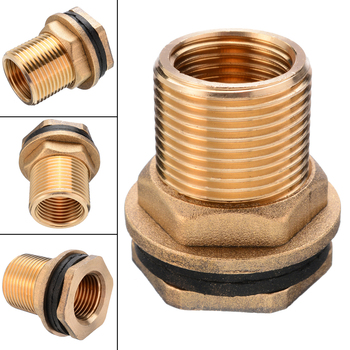 1/2 Female 3/4 Male Soild Brass Water Tank Connector Garden Straight Theaded Bulkhead Fitting Tank Hose Adapter 8pc 1 2 3 4 1inch thread adapter garden water connector pvc hose garden hose connector water tank aquarium fish tank accessories