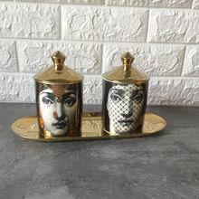 Подсвечник Fornasetti, ручная работа, кувшин для свечей, ретро, Lina, для хранения лица, керамический контейнер, украшение для дома, ювелирный ящик для хранения