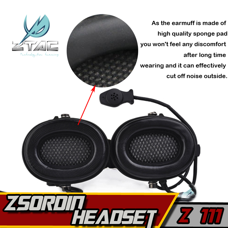 Z 111 Z taktiskt headset (Officiell version) anti-noise headset - Jakt - Foto 5