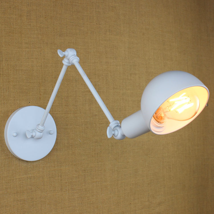 ФОТО Long Arm 3 Parts Iron Wall Light Cafe Aisle Hall Project Lamp Bedroom Cafe