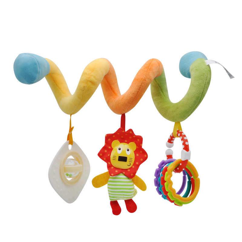 Спиральные детские погремушки коляска мягкая детская кроватка кровать коляска игрушка новорожденный 0-12 месяцев висячая обучающая детская погремушка детская игрушка