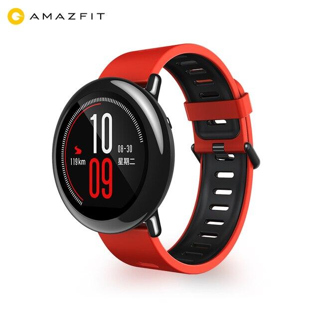 AMAZFIT Xiaomi Huami Умные Спортивные Часы Циркониевой Керамики GPS Heart Rate Monitor Спорт BlueTooth Музыка Запуска IP67 Водонепроницаемый