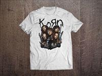 KORN Band Men White T Shirt Metal Band Fan Tee Rock Band T Shirt Men Black