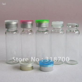 5ml clear essence oil glass bottle with silicone rubber stopper & flip cap,2ml,3ml till 30ml is available