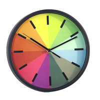 10-inch Rainbow Wall Clock Children's Room Decoration Super Mute Plastic Watches And Clocks T20
